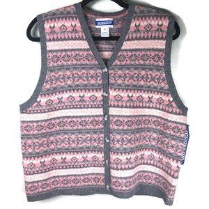 NWT VTG Pendleton Fair Isle Sweater Vest Size XL